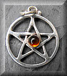 Silver and amber pentagram